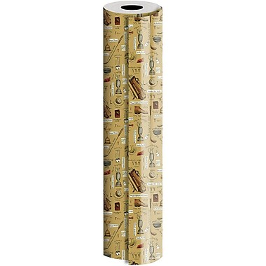 JAM Paper® Industrial Size Wrapping Paper Rolls, Hole in One, 1/4 Ream (520 Sq. Ft), Sold Individually (165J15630208)