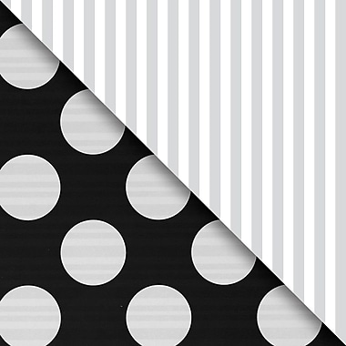 JAM Paper® Industrial Size Wrapping Paper Rolls, Black & Silver, 30