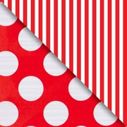 JAM Paper® Industrial Size Wrapping Paper Rolls, Red Dot & Stripe, 1/4 Ream (520 Sq. Ft), Sold Individually (165J99230208)