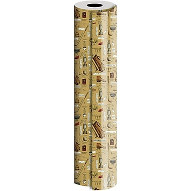 JAM Paper® Industrial Size Wrapping Paper Rolls, Hole in One, 1/4 Ream (416 Sq. Ft), Sold Individually (165J15624208)