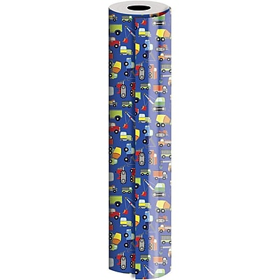 JAM Paper® Industrial Size Wrapping Paper Rolls, Trucks, 1/4 Ream (416 Sq. Ft), Sold Individually (165J17924208)