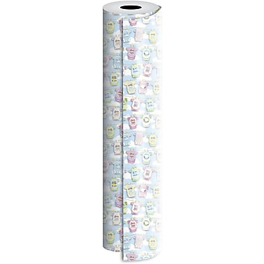 JAM Paper® Industrial Size Wrapping Paper Rolls, Onesies Twosies, 30