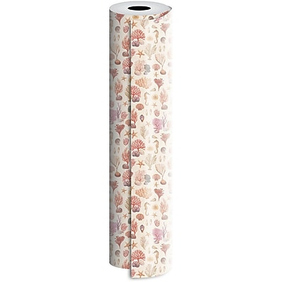 JAM Paper® Industrial Size Wrapping Paper Rolls, Coral Reef, 1/4 Ream (416 Sq. Ft), Sold Individually (165J17524208)