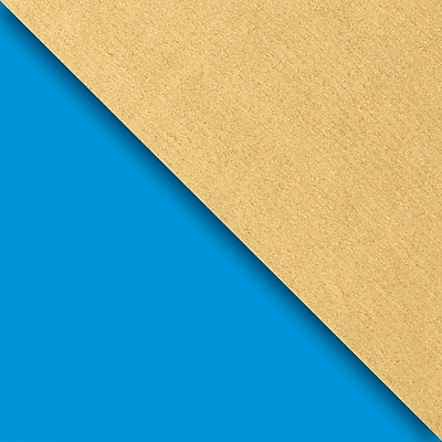 JAM Paper Industrial Size Wrapping Paper Rolls, Blue & Gold Kraft, Full Ream (2082.5 Sq. Ft), Each (165J98230833)
