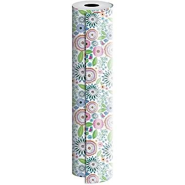 JAM Paper® Industrial Size Wrapping Paper Rolls, Pretty Petunia, 1/2 Ream (834 Sq. Ft), Sold Individually (165J38024417)