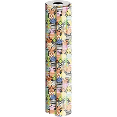 JAM Paper® Industrial Size Wrapping Paper Rolls, Pineapple Pop, 24