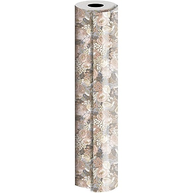 JAM Paper® Industrial Size Wrapping Paper Rolls, Bouquet, 30