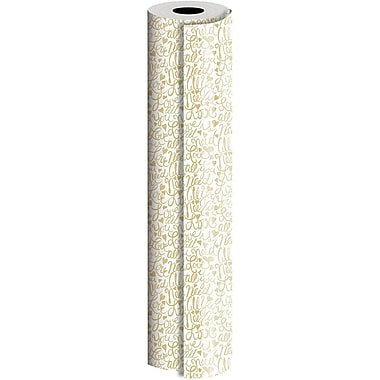 JAM Paper® Industrial Size Wrapping Paper Rolls, Brushscript, 30
