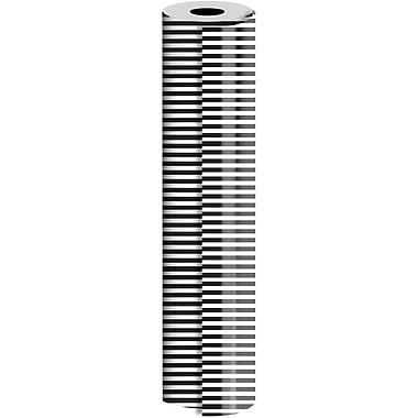 JAM Paper® Industrial Size Wrapping Paper Rolls, Black White Stripe, 24