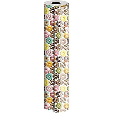 JAM Paper® Industrial Size Wrapping Paper Rolls, Donuts, 30