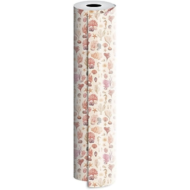 JAM Paper® Industrial Size Wrapping Paper Rolls, Coral Reef, 30