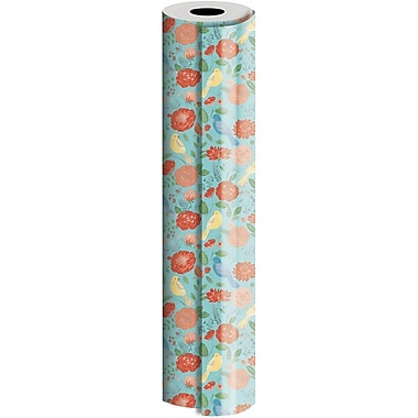 JAM Paper® Industrial Size Wrapping Paper Rolls, Dahlia, 1/2 Ream (1042.5 Sq. Ft), Sold Individually (165J12630417)