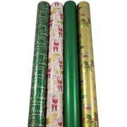 JAM Paper® Christmas Design Wrapping Paper - Lush Christmas - 180 Sq. Ft. - 4/pack