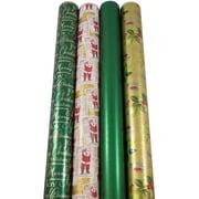 JAM Paper – Papier d'emballage de Noël, Noël chaleureux, 180 pi2, 4/paquet (368533589)