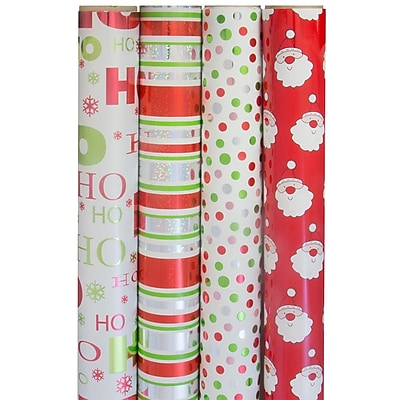 JAM Paper Christmas Design Wrapping Paper -