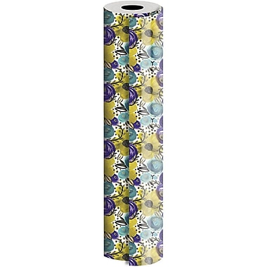 JAM Paper® Industrial Size Wrapping Paper Rolls, Wild Flower, 24