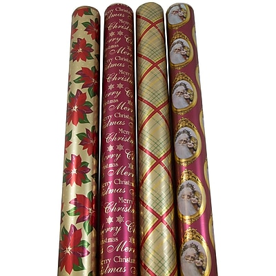 JAM Paper Christmas Wrapping Paper, Gilded Christmas,
