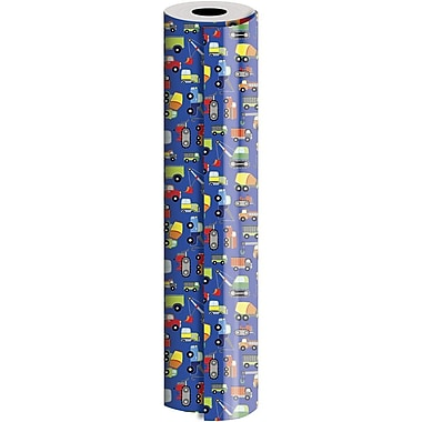 JAM Paper® Industrial Size Wrapping Paper Rolls, Trucks, 30