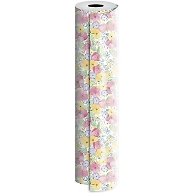 JAM Paper® Industrial Size Wrapping Paper Rolls, WaterColour Petal, 24