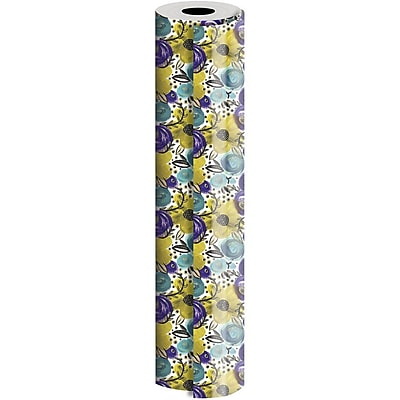 JAM Paper® Industrial Size Wrapping Paper Rolls, Wild Flower, 1/2 Ream (834 Sq. Ft), Sold Individually (165J15724417)