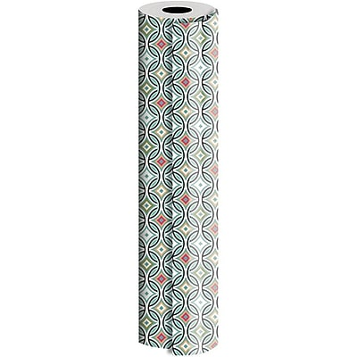 JAM Paper® Industrial Size Wrapping Paper Rolls, Optic Pleasure, Full Ream (2082.5 Sq. Ft), Sold Individually (165J29530833)