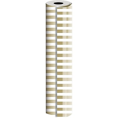JAM Paper® Industrial Size Wrapping Paper Rolls, Bold Gold, 1/4 Ream (416 Sq. Ft), Sold Individually (165J39724208)