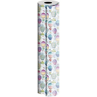 JAM Paper® Industrial Size Wrapping Paper Rolls, Hot Air Balloons, 24