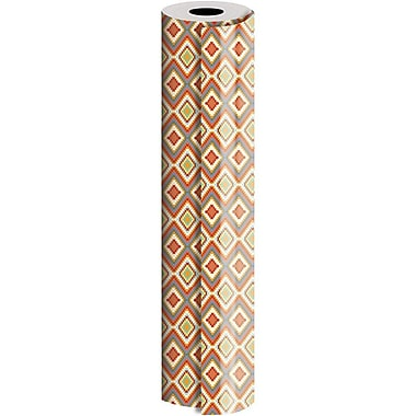 JAM Paper® Industrial Size Wrapping Paper Rolls, Bohemian Diamond, 24