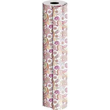 JAM Paper® Industrial Size Wrapping Paper Rolls, Paisley, 24