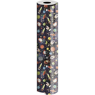 JAM Paper® Industrial Size Wrapping Paper Rolls, Gravity Space, 24