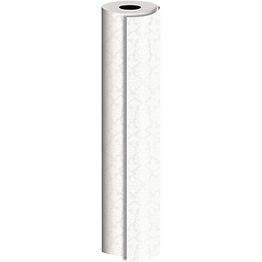 JAM Paper® Industrial Size Wrapping Paper Rolls, Pearl Damask, 1/4 Ream (416 Sq. Ft), Sold Individually (165J19524208)