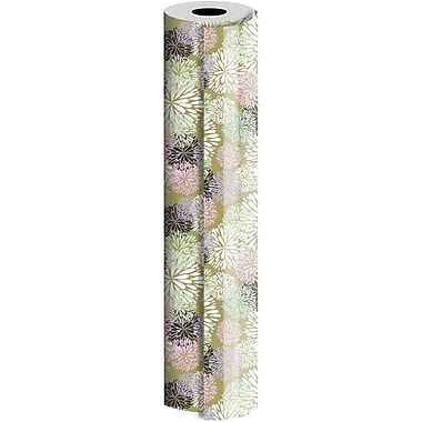 JAM Paper® Industrial Size Wrapping Paper Rolls, Delicate Flower, 24