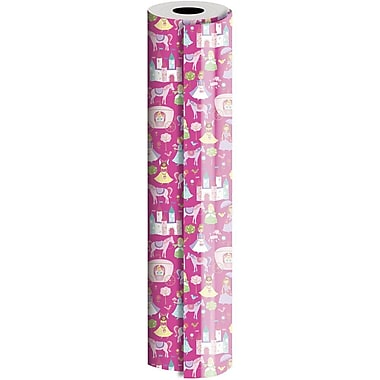 JAM Paper® Industrial Size Wrapping Paper Rolls, Fairy Tale, 1/2 Ream (834 Sq. Ft), Sold Individually (165J31724417)