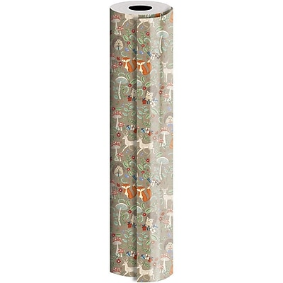 JAM Paper® Industrial Size Wrapping Paper Rolls, Krafty Fox, 1/4 Ream (416 Sq. Ft), Sold Individually (165J38524208)