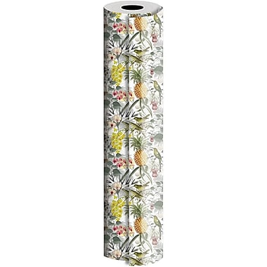 JAM Paper® Industrial Size Wrapping Paper Rolls, Rainforest, 1/4 Ream (520 Sq. Ft), Sold Individually (165J12830208)