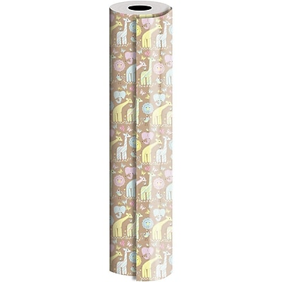 JAM Paper® Industrial Size Wrapping Paper Rolls, Animal Quilt, Full Ream (1666 Sq. Ft), Sold Individually (165J25924833)