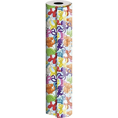 JAM Paper® Industrial Size Wrapping Paper Rolls, Balloon Animals, 24