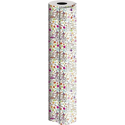JAM Paper® Industrial Size Wrapping Paper Rolls, Celebration Cruiser, Full Ream (2082.5 Sq. Ft), Single Roll (165J39930833)