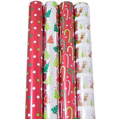 JAM Paper - Papier d'emballage de Noël, Noël au pôle Nord, 180 pi², 4/paquet (368533618)