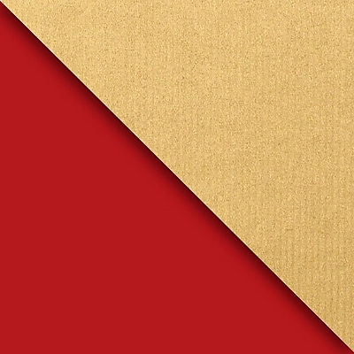 JAM Paper® Industrial Size Wrapping Paper Rolls, Kraft Red & Gold, 1/4 Ream (520 Sq. Ft), Sold Individually (165J99330208)