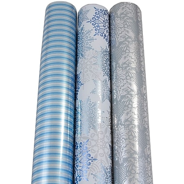 JAM Paper® Christmas Wrapping Paper, Pattern, 50 Sq. Ft, 3/pack (368533621)