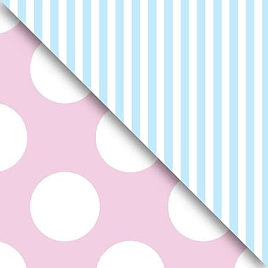 JAM Paper® Industrial Size Wrapping Paper Rolls, Pastel Pink & Blue, 30