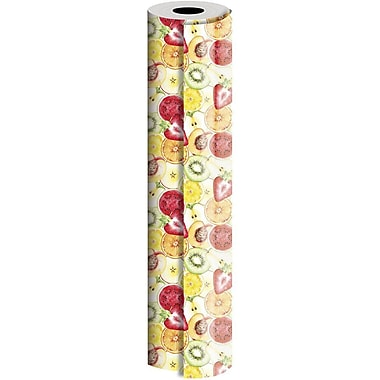 JAM Paper® Industrial Size Wrapping Paper Rolls, Fruit Salad, 24