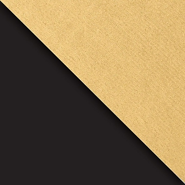 JAM Paper® Industrial Size Wrapping Paper Rolls, Black & Gold Kraft, 24