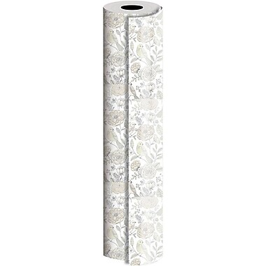 JAM Paper® Industrial Size Wrapping Paper Rolls, Love Birds, 30