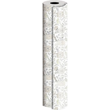 JAM Paper® Industrial Size Wrapping Paper Rolls, Love Birds, Full Ream (2082.5 Sq. Ft), Sold Individually (165J14430833)
