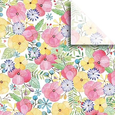 JAM Paper® Printed Gift Tissue, Watercolor Petal, 20 x 30 Inches, 240 Sheets (115BPT1451)