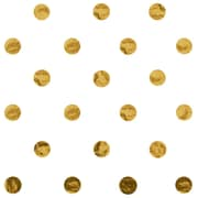 JAM Paper® Design Gift Tissue, Gold Polka Dots, 20 x 30 Inches, 200 Sheets (526BHD151)