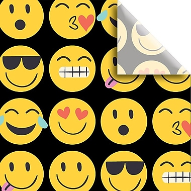 JAM Paper® Printed Gift Tissue, Emojis, 20 x 30 Inches, 240/Pack (115BPT1241)