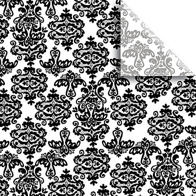 JAM Paper® Printed Gift Tissue, Black Damask, 20 x 30 Inches, 240 Sheets (115BPT4181)